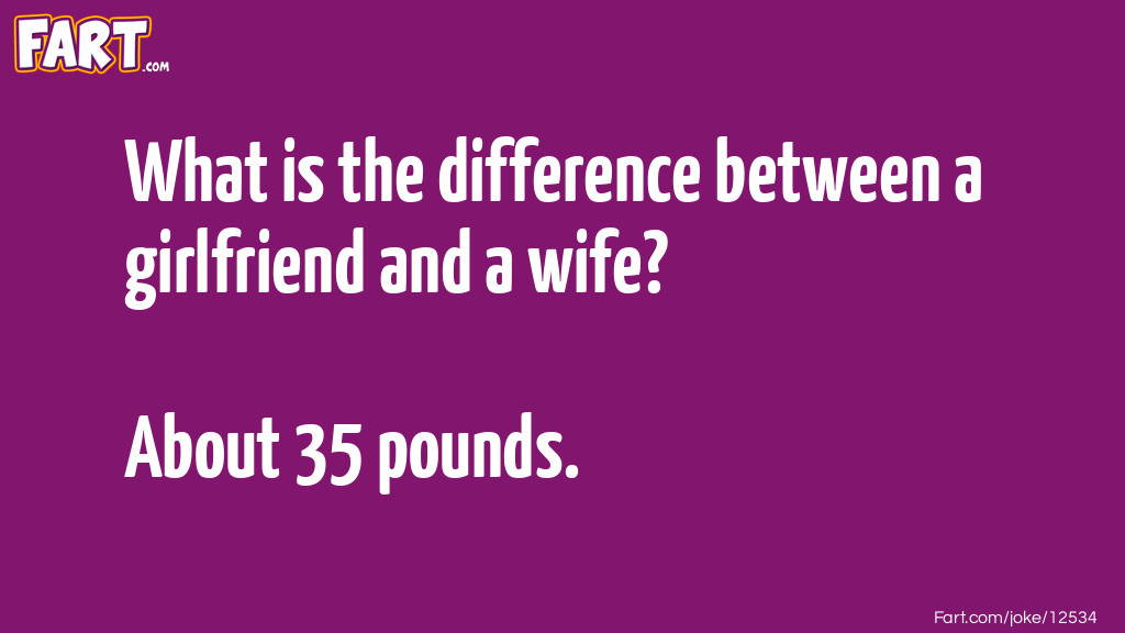 Girlfriend vs. Wife Joke Joke Meme.
