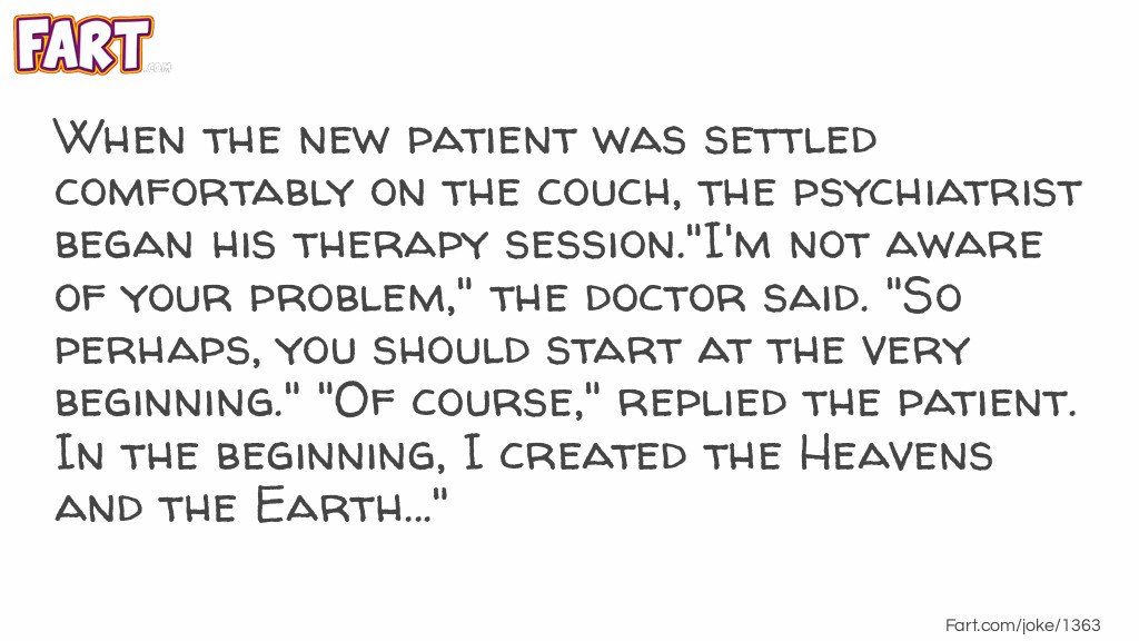 Psychiatrist Therapy Session Joke Meme.