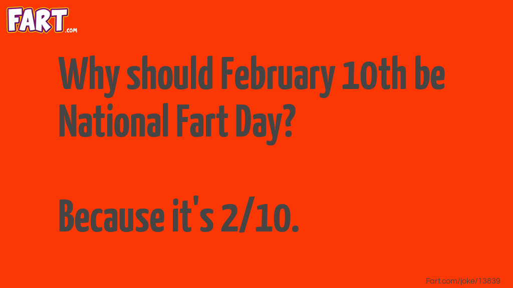 National Fart Day. Joke Meme.