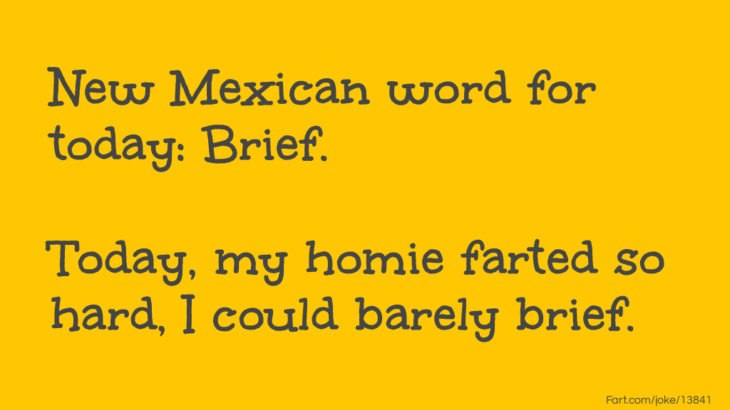 Brief Fart Joke Meme.