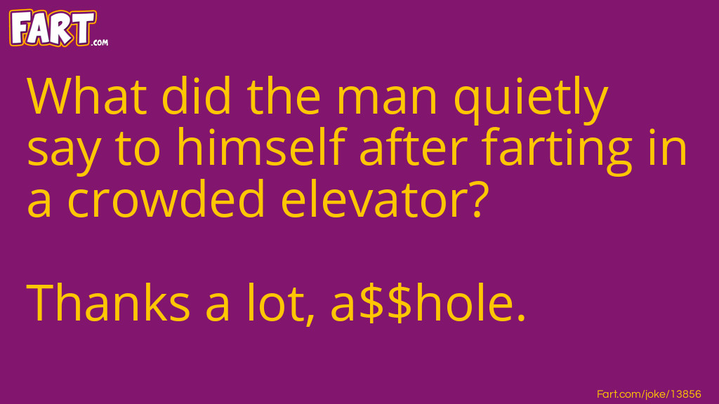Man in an Elevator Fart Joke Meme.
