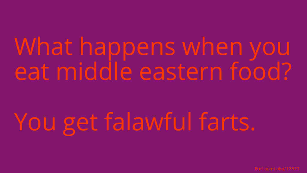 Middle Eastern Food Joke Meme.