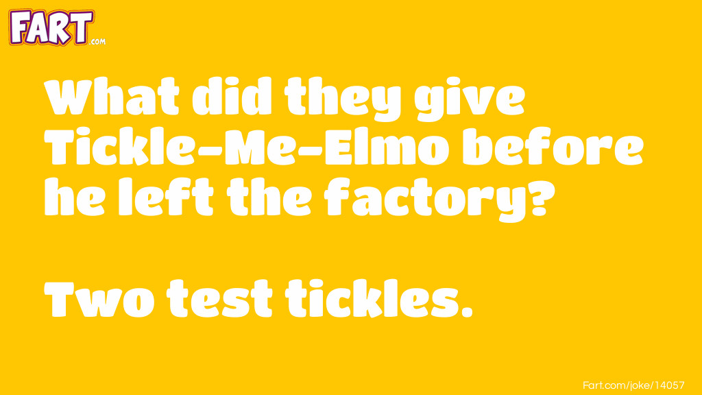 Tickle Me Elmo Joke Meme.