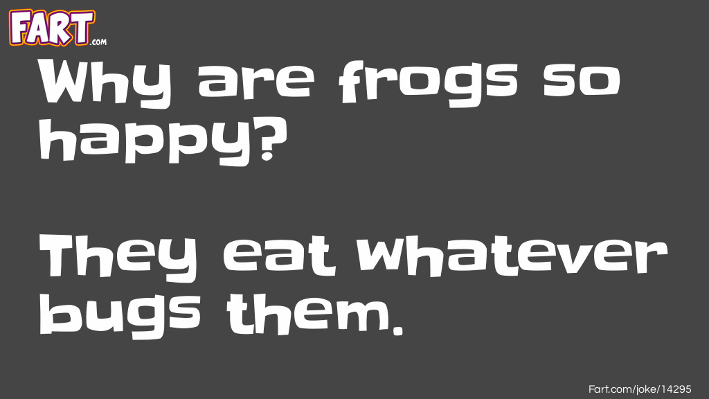 Happy Frogs Joke Joke Meme.