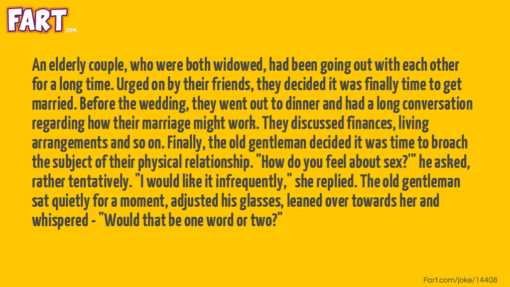 Elderly Newlyweds Joke Meme.