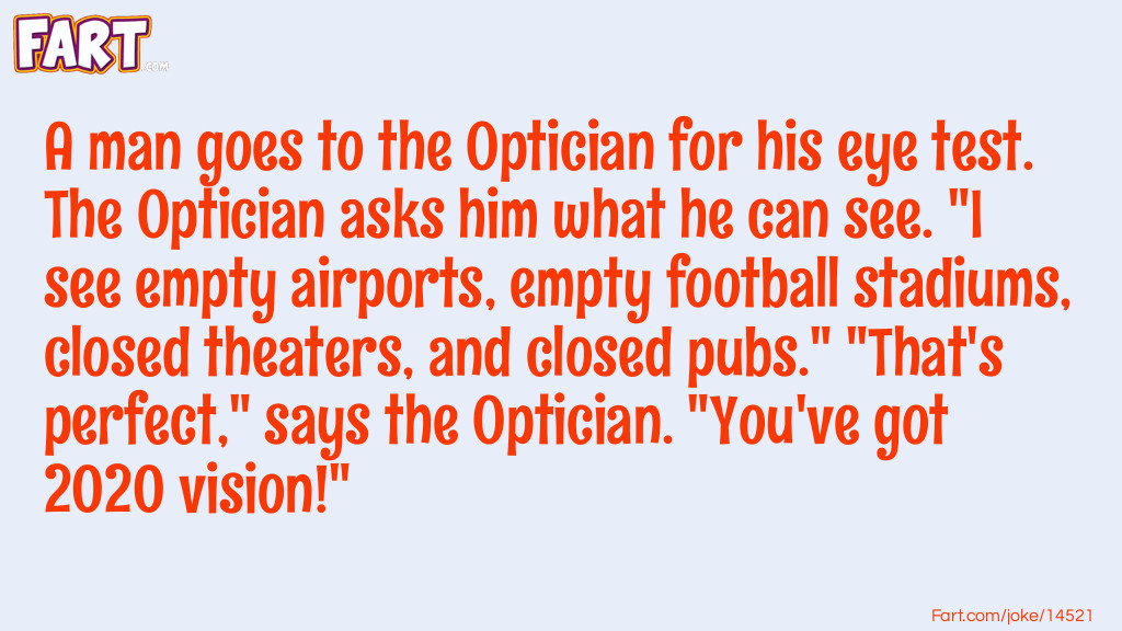 A man goes to the optician joke Joke Meme.