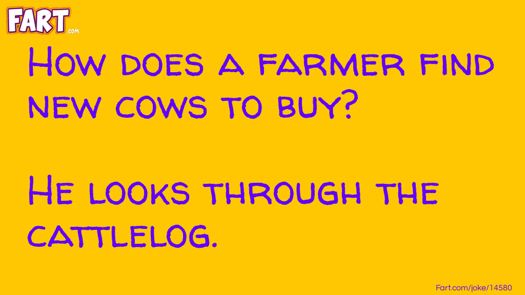 Farmer needs new cows Joke Meme.