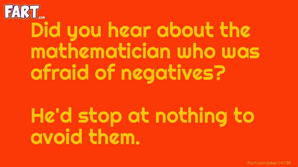 Mathematician who was afraid of negatives jokes Joke Meme.