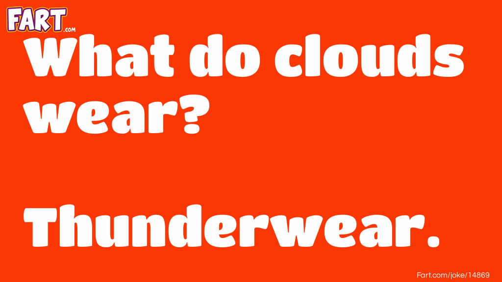 Cloud Clothes Joke Joke Meme.