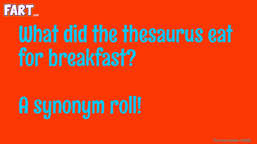Thesaurus Breakfast Joke Joke Meme.