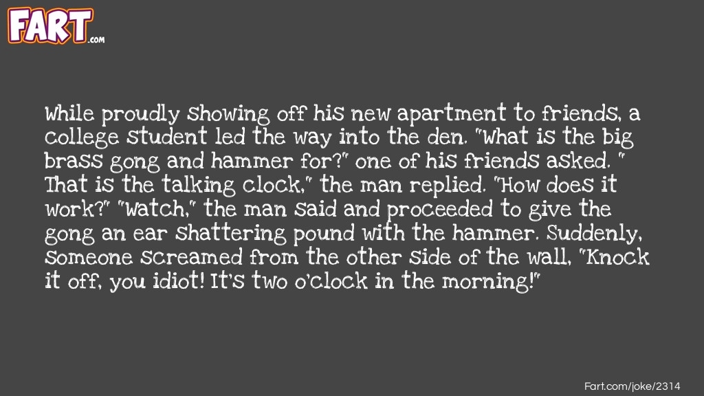 Talking Clock Joke Joke Meme.