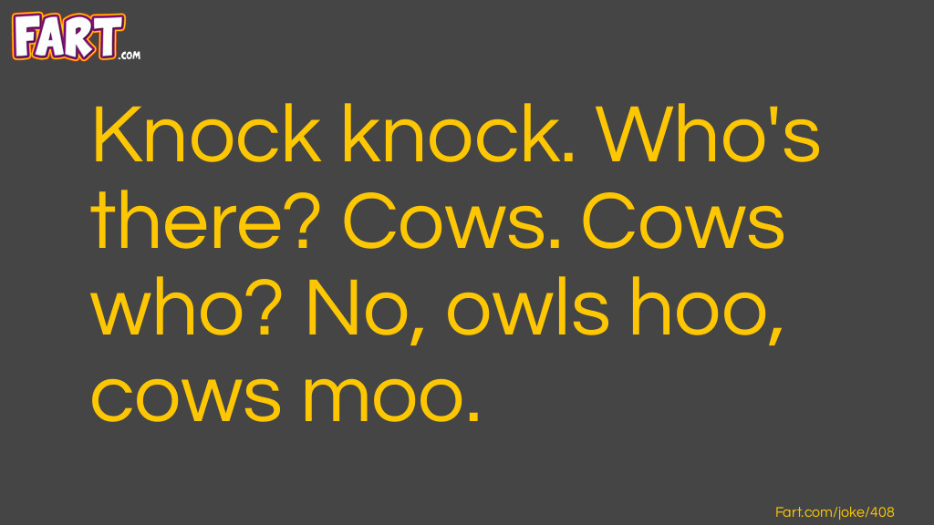 Knock Knock Cow Joke Joke Meme.