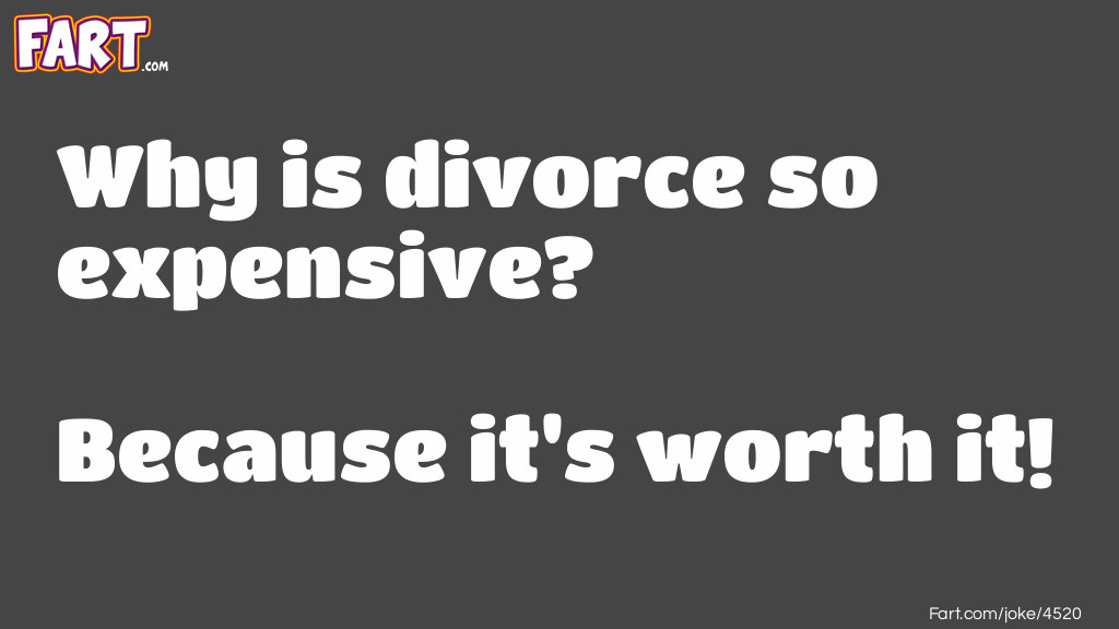 Expensive Divorce Joke Meme.