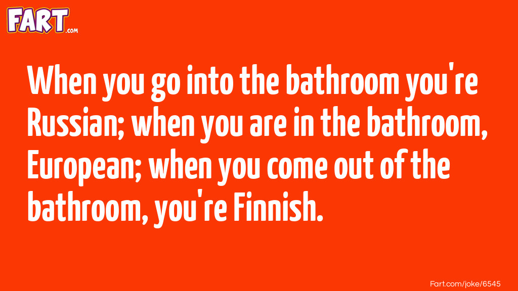 Bathroom Nationalities Joke Meme.